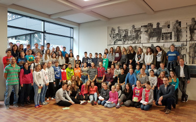 Srečanje sedmošolcev OŠ Bistrica z vrstniki iz Celovca in Borovelj