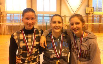 Občinskem tekmovanju v badmintonu za deklice