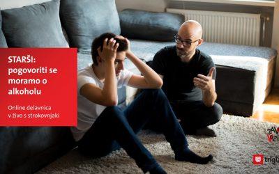 Brezplačno online predavanje – Kako naj se z najstnikom pogovorim o alkoholu?